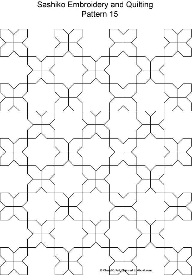 Sashiko Pattern 12 Patchworc Pinterest Sashiko Embroidery