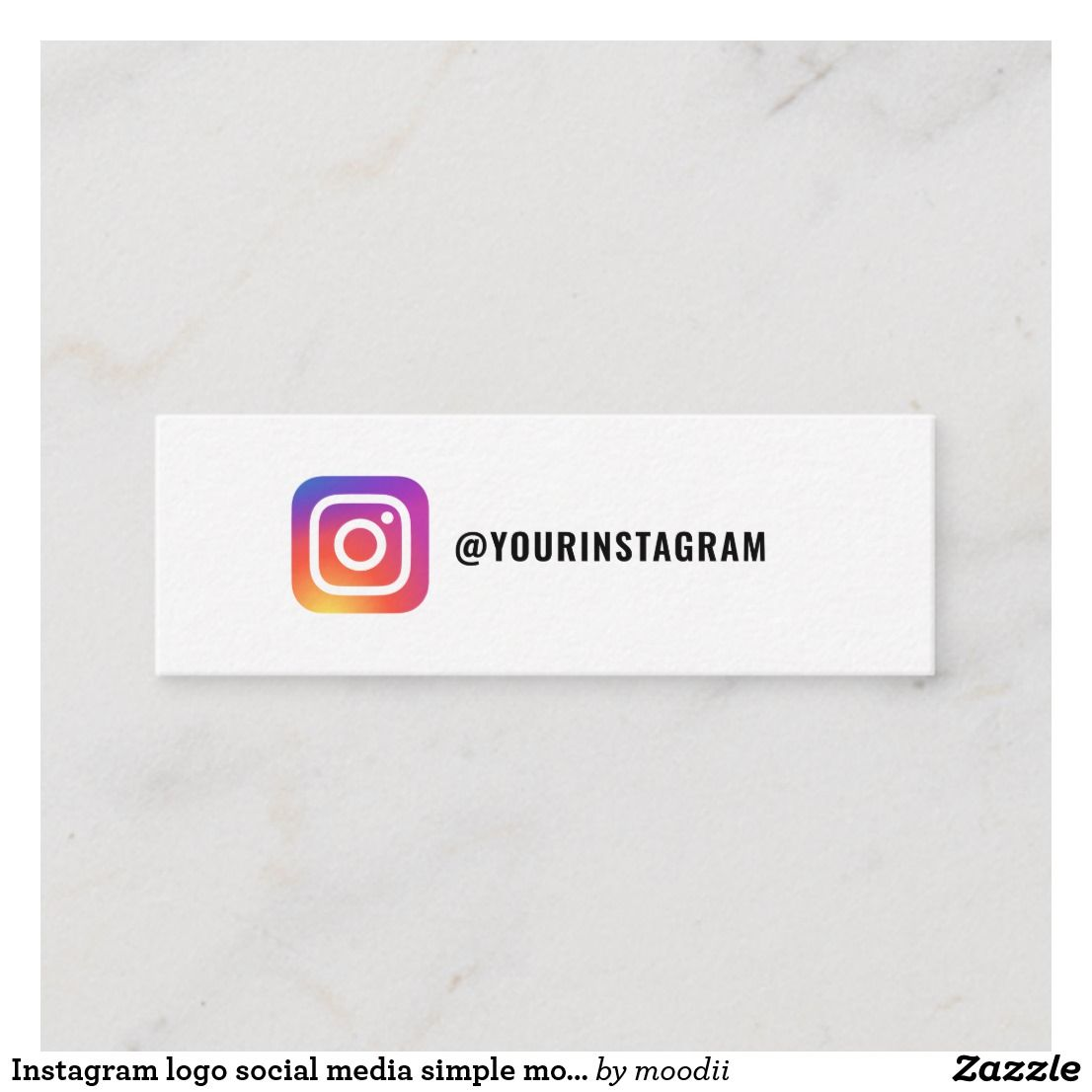 Instagram Logo Social Media Simple Modern Trendy Calling Card Zazzle Com Social Media Business Cards Instagram Logo Calling Cards