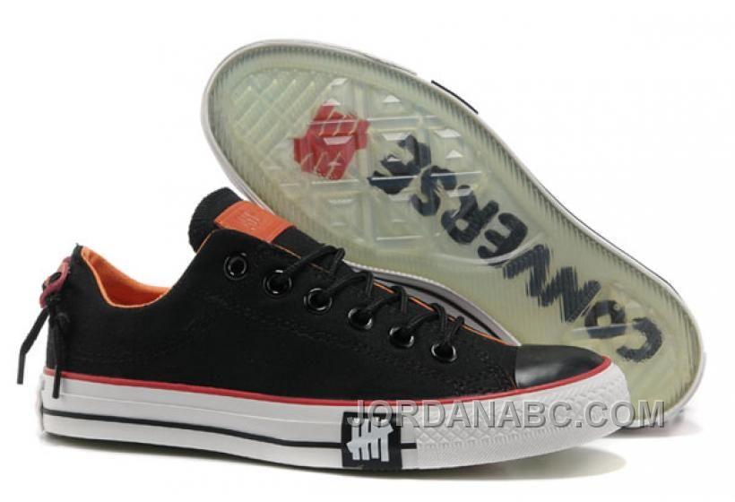 Undefeated Black CONVERSE All Star Tops Canvas Clear Rubber