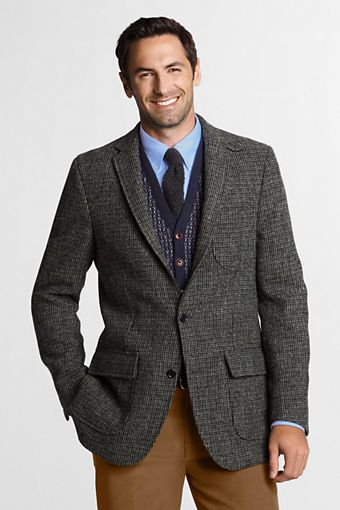 Men's Tailored Fit Harris Tweed Sportcoat from Lands' End