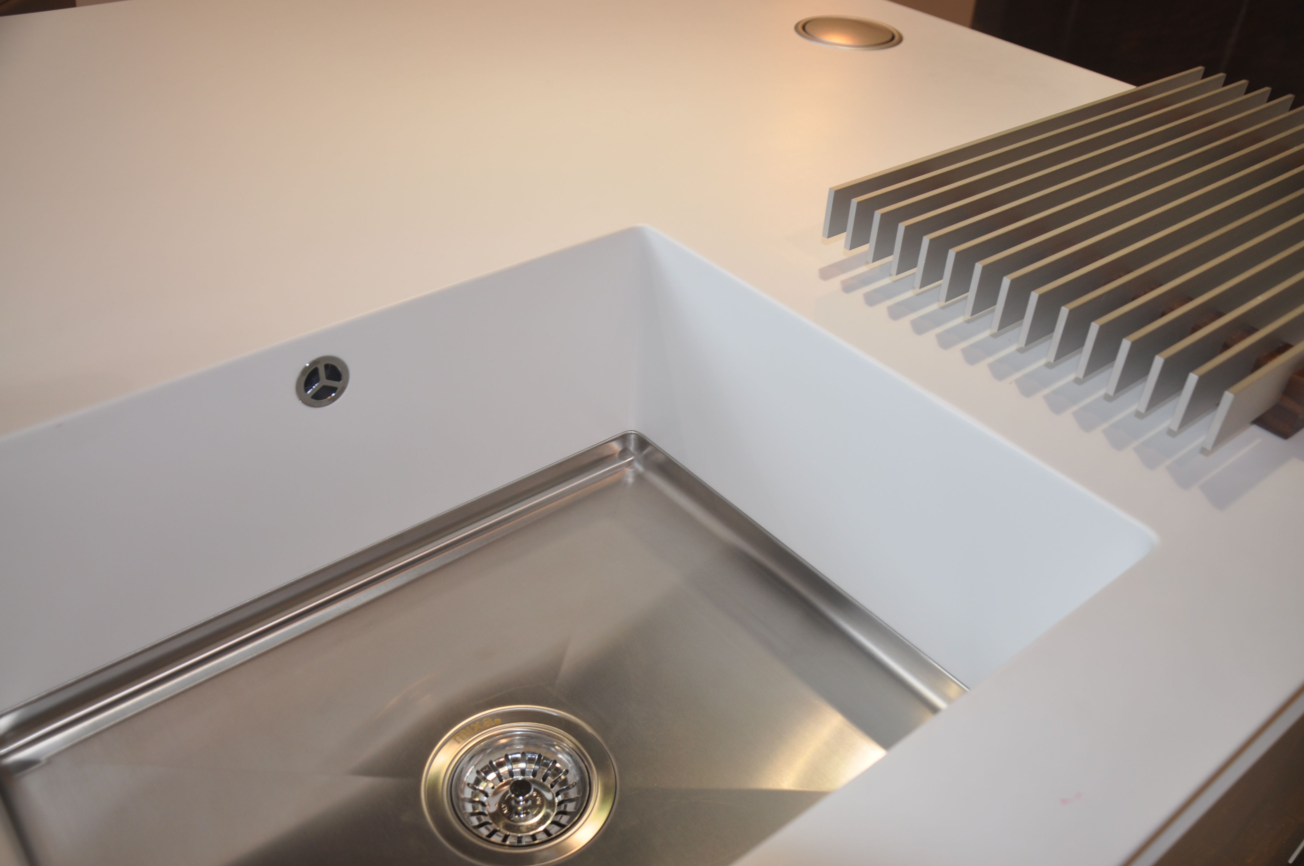 Gäste Wc Corian Corian Sparkling 9505 Stainless Steel Bottom Sink With