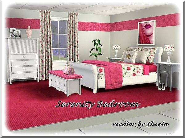Serenity Bedroom Recolor By Sheela Sims 3 Downloads Cc Caboodle Sims House Sims 4 Bedroom Sims 3 Houses Ideas