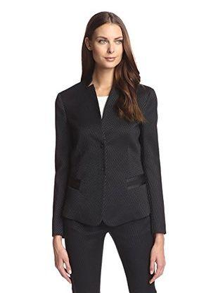 Beatrice B Women's Tuxedo Jacket (Black)