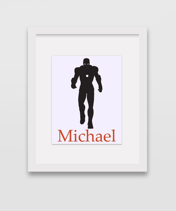 Personalized Iron Man Print 8x10 Silhouette by CleopatrasPearls