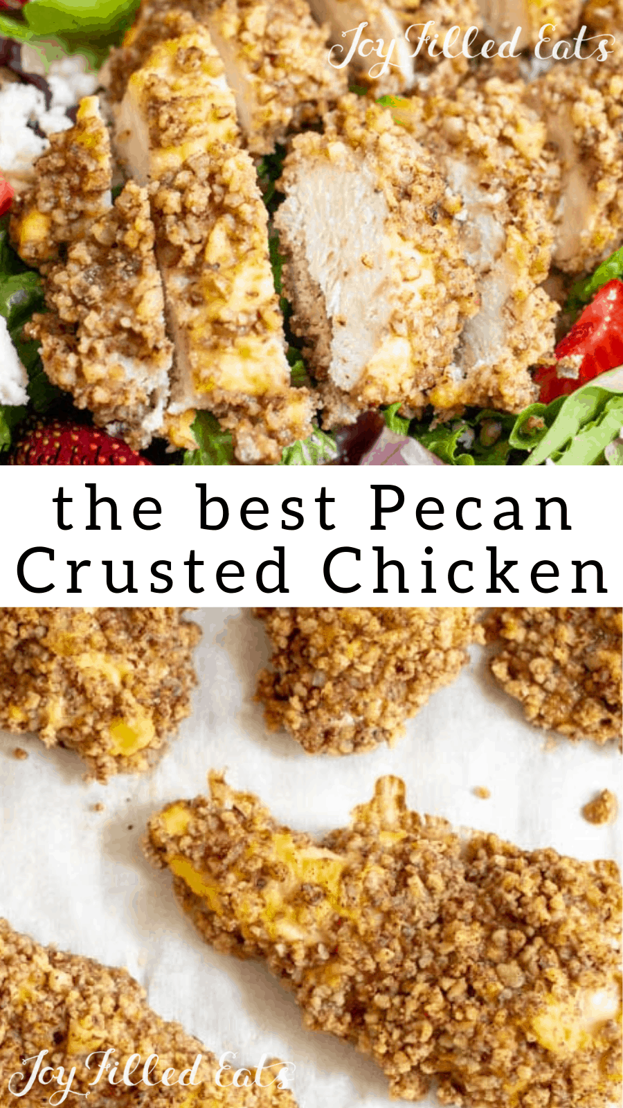 Pecan Crusted Chicken - Low Carb, Keto, Gluten-Free, THM S