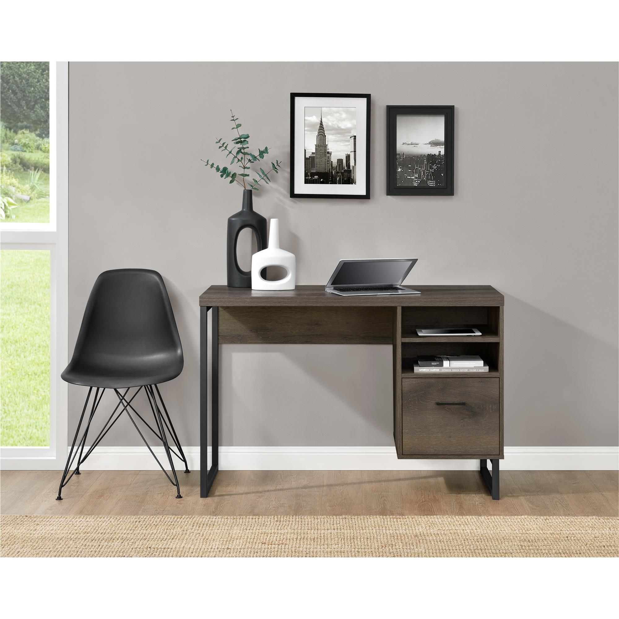 The Ameriwood Home Candon Desk Is The Perfect Size For Any Home Office Dorm Room Or Bedroom With Its Small Footprint But Cheap Office Furniture Furniture Home