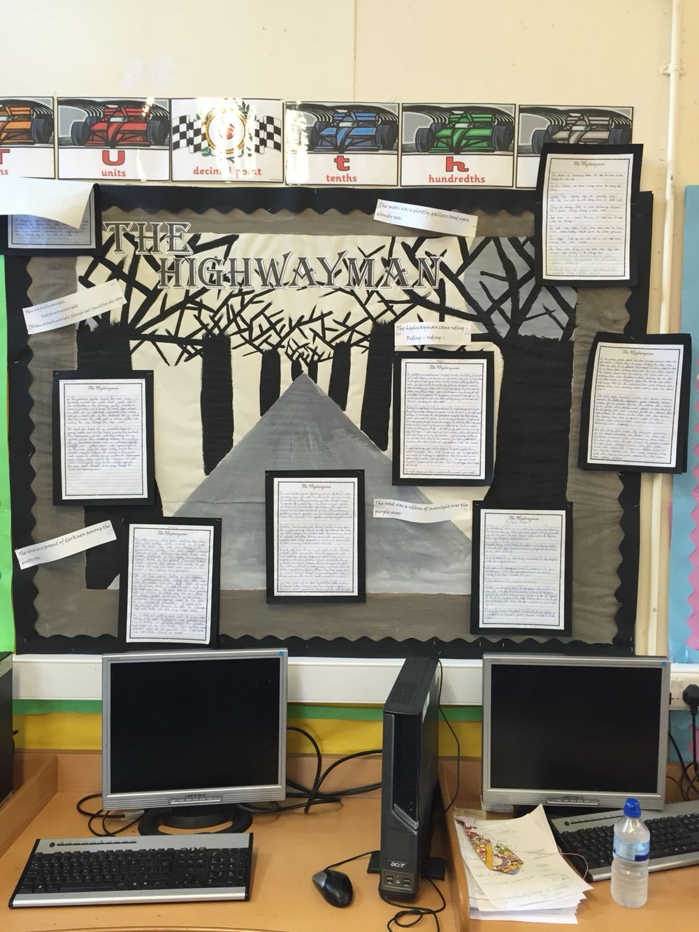 the highwayman literacy poem classroom display school ideas year 5 highway man narrative poem display
