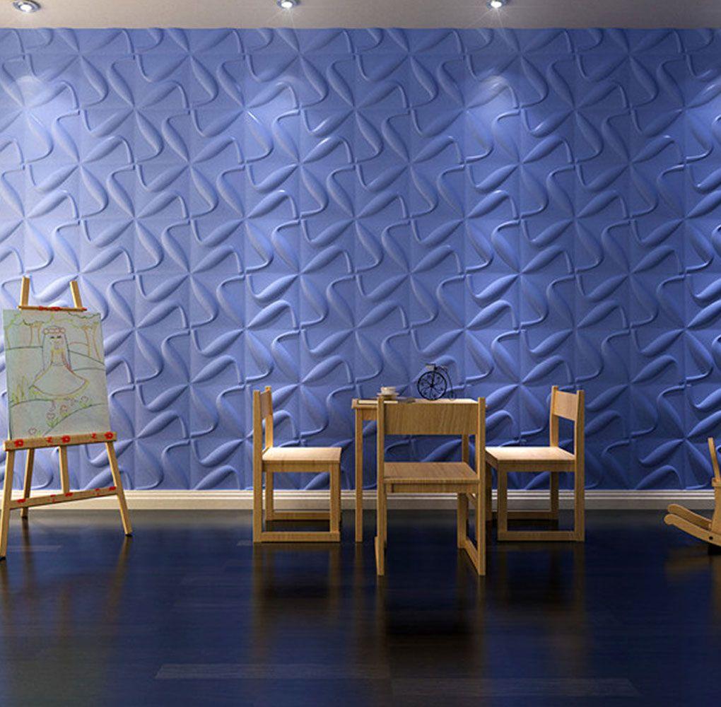 "Curvy X"" 3D Paintable Plant Fiber Wall Panels   3 Dimensional ..."