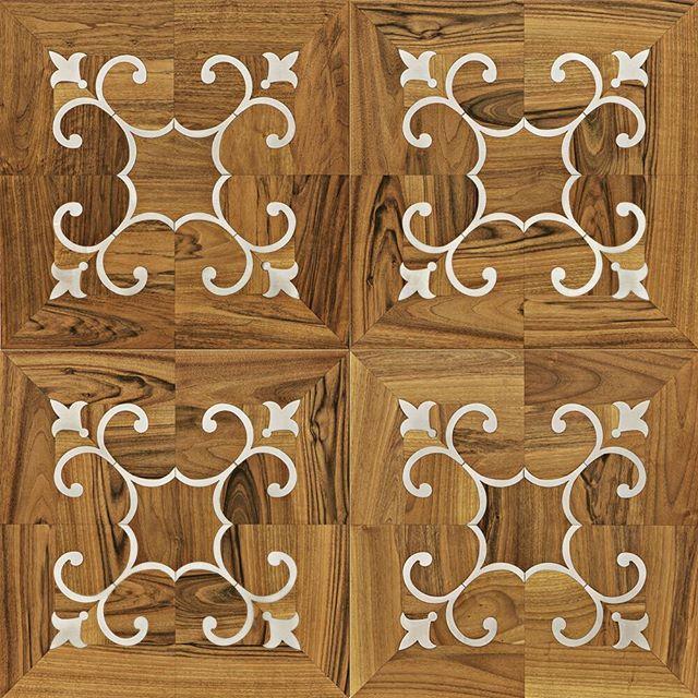 Decorative parquet from our Pavimenti Quadrotte Collection