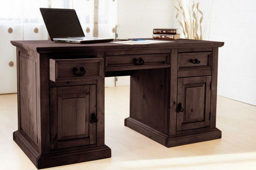 schreibtisch hacienda pinie massiv b rotisch arbeitstisch computertisch tisch bibliothek. Black Bedroom Furniture Sets. Home Design Ideas