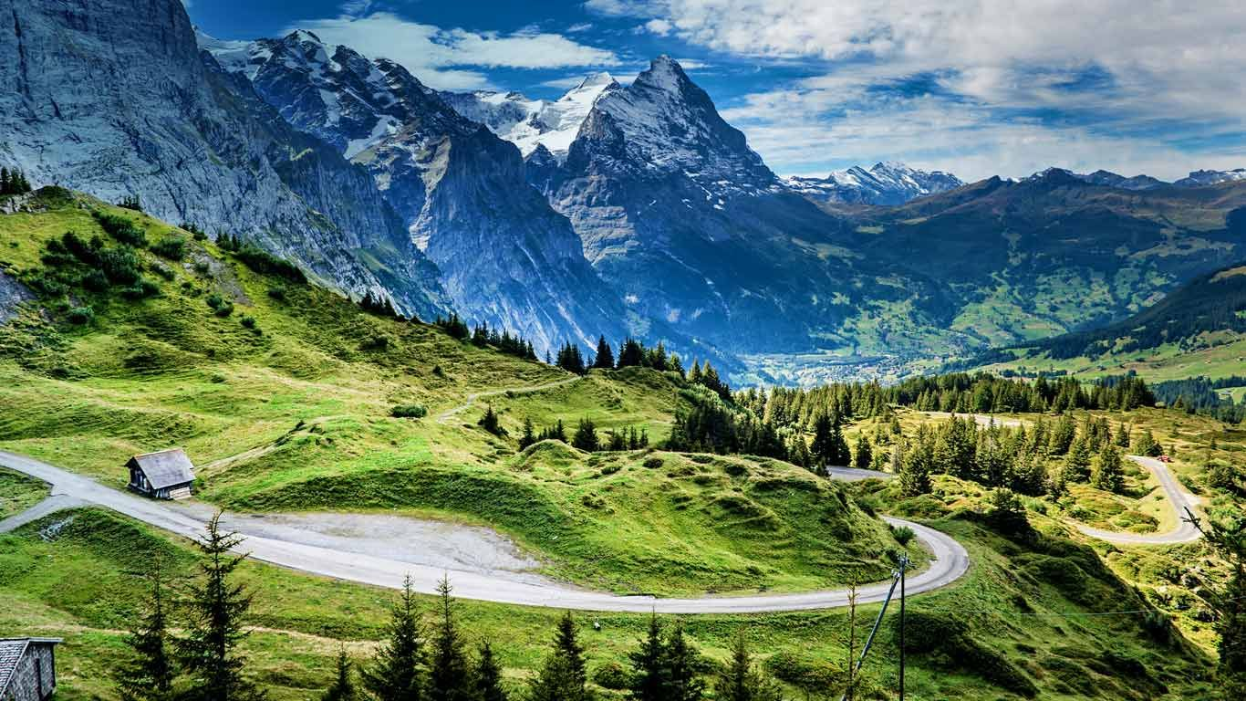 View of the Eiger from the Grosse Scheidegg mountain pass Switzerland & View of the Eiger from the Grosse Scheidegg mountain pass ... pezcame.com