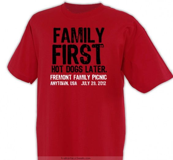Family First, Dogs Later Shirt   Family Reunion Design SP2542