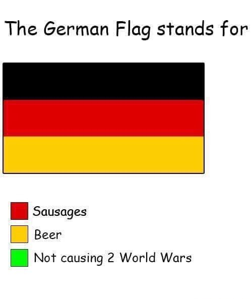 German Flag Meaning Historical Humor German Flag History Humor