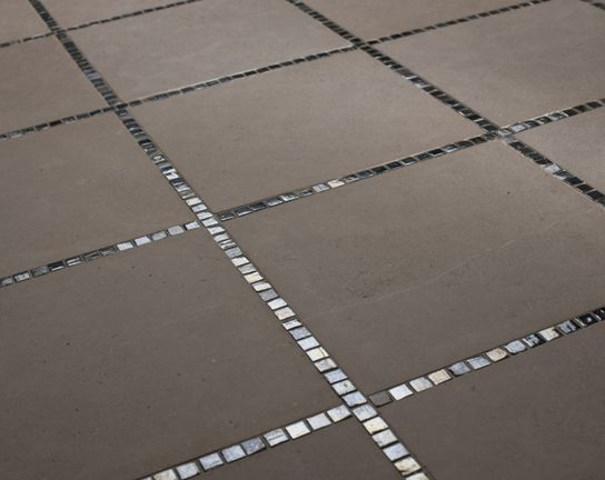 1x1 Mosaic Accents Running Between 12x12 Floor Tiles Flooring Contemporary Tile Floor Tile Floor