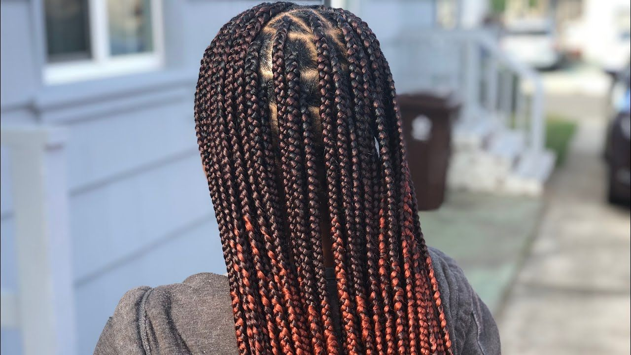 Knotless Box Braids Gripping Creating An Ombr 233 Brown