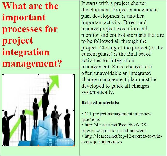 Related Materials 111 Project Management Interview Questions