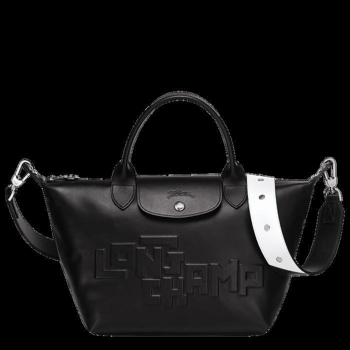 Longchamp - Sac porté main, Noir | Sac, Sac longchamp, Le pliage cuir