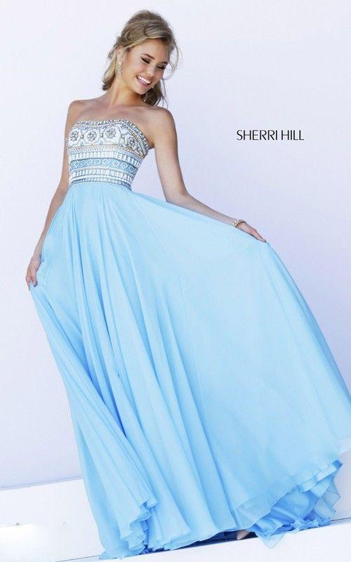 astonishing 2015 Blue Prom Dress Chiffon Sherri Hill 11175 Online ...