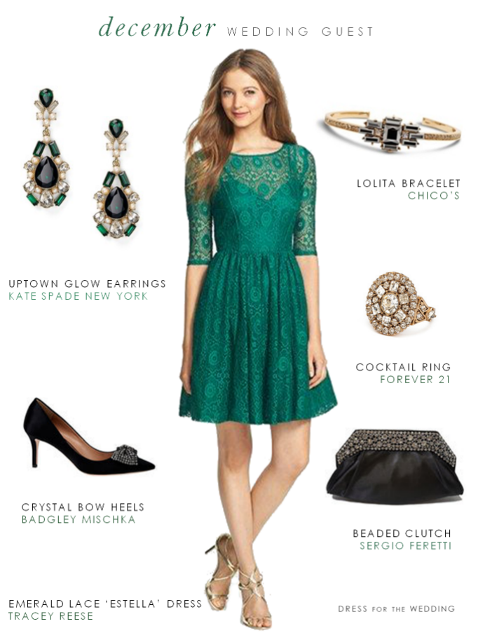 Green Dress for a December Wedding Guest