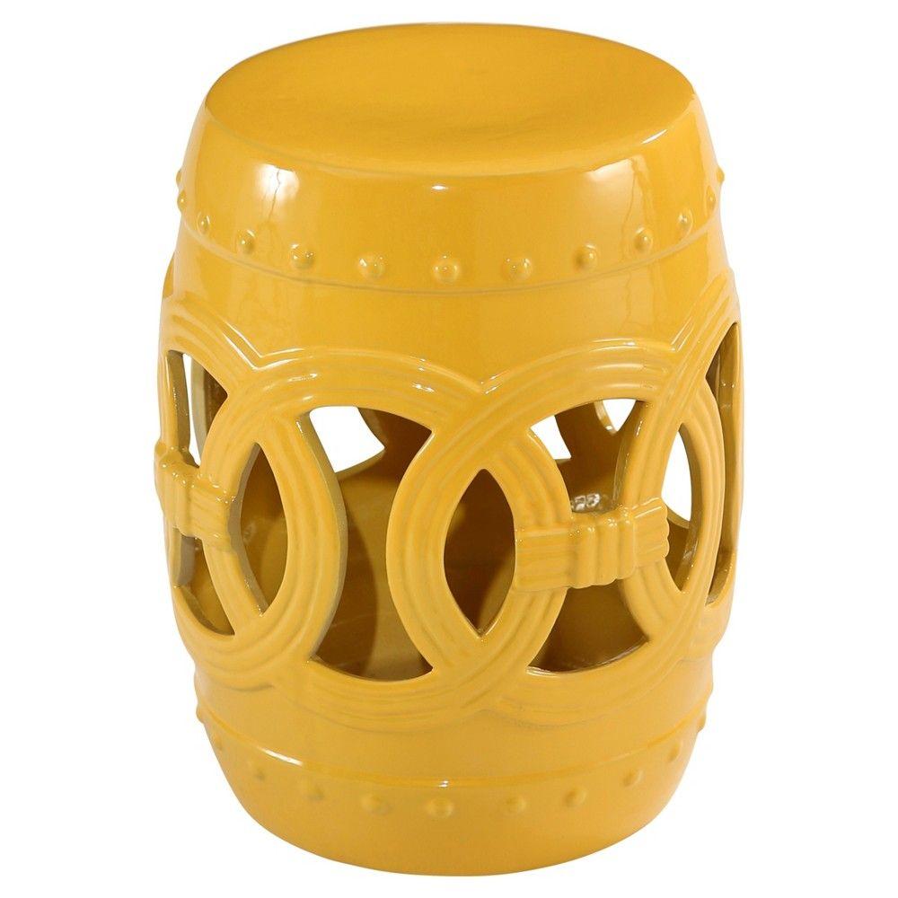 Fine Moroccan Ceramic Garden Stool Yellow Abbyson Living Machost Co Dining Chair Design Ideas Machostcouk