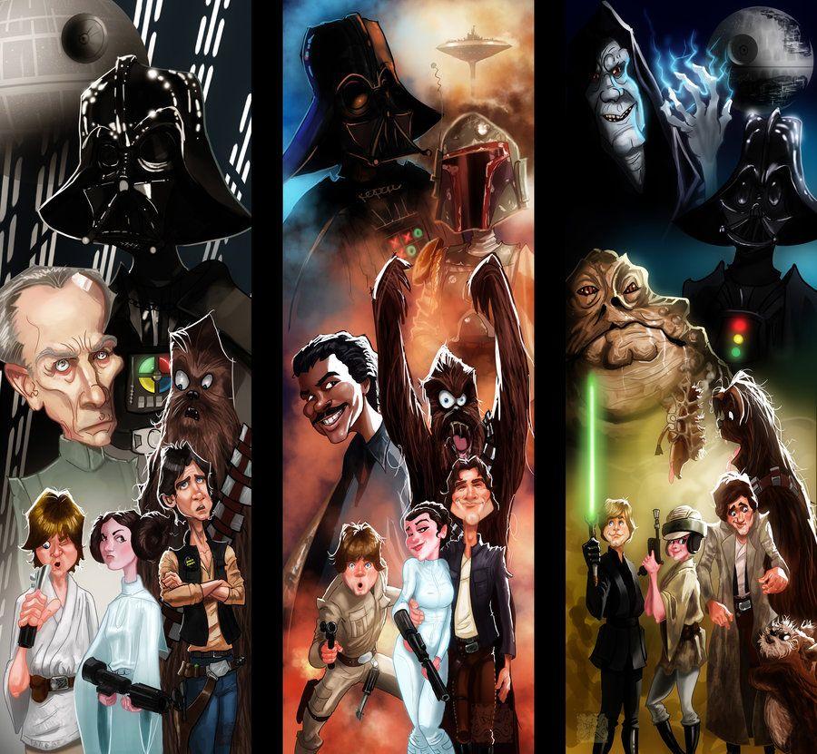 Star Wars Episode IV, V and VI by DevonneAmos.deviantart.com on @DeviantArt