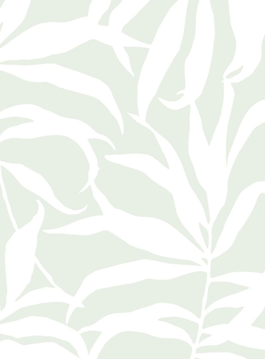 Tropical Palm Leaves Solid Wallpaper Peel And Stick In 2020 Beachy Wallpaper Peel And Stick Wallpaper Fabric Wallpaper