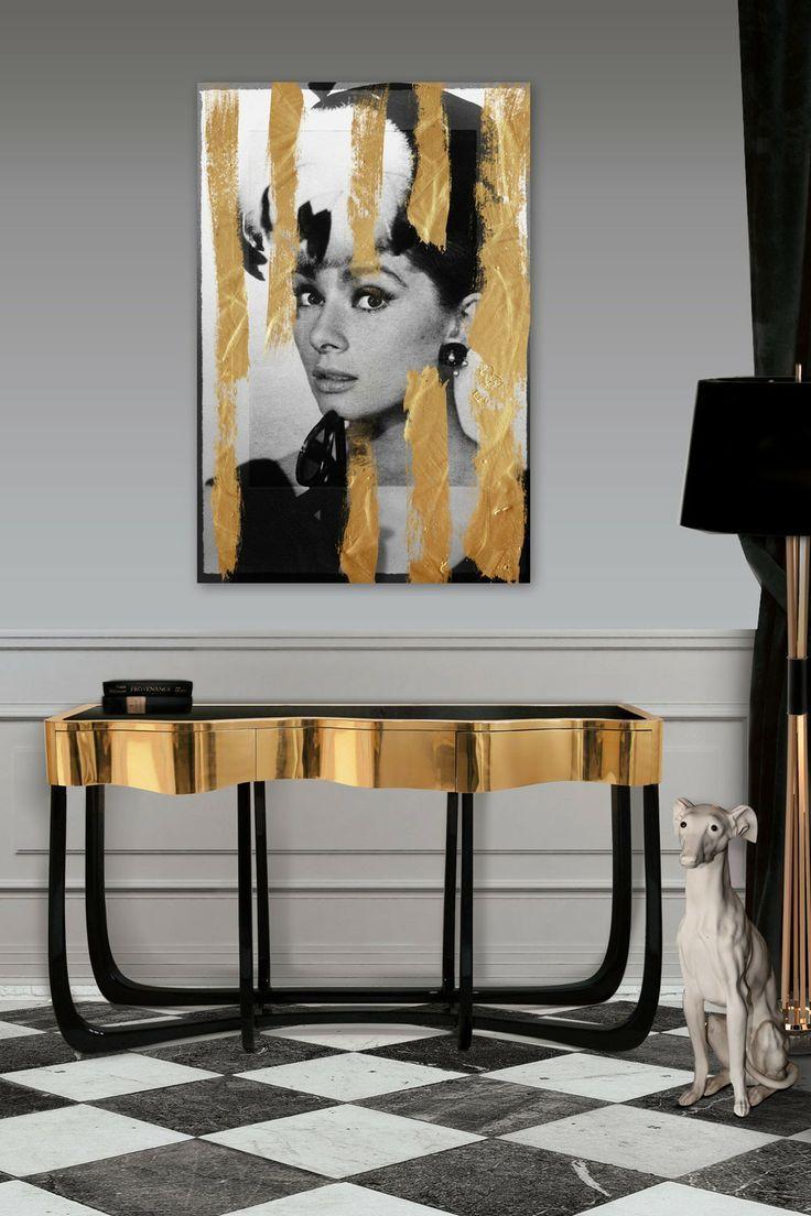 Oro y negro interior | Un interior decorado en estos colores ganará en estilo y personalidad ...