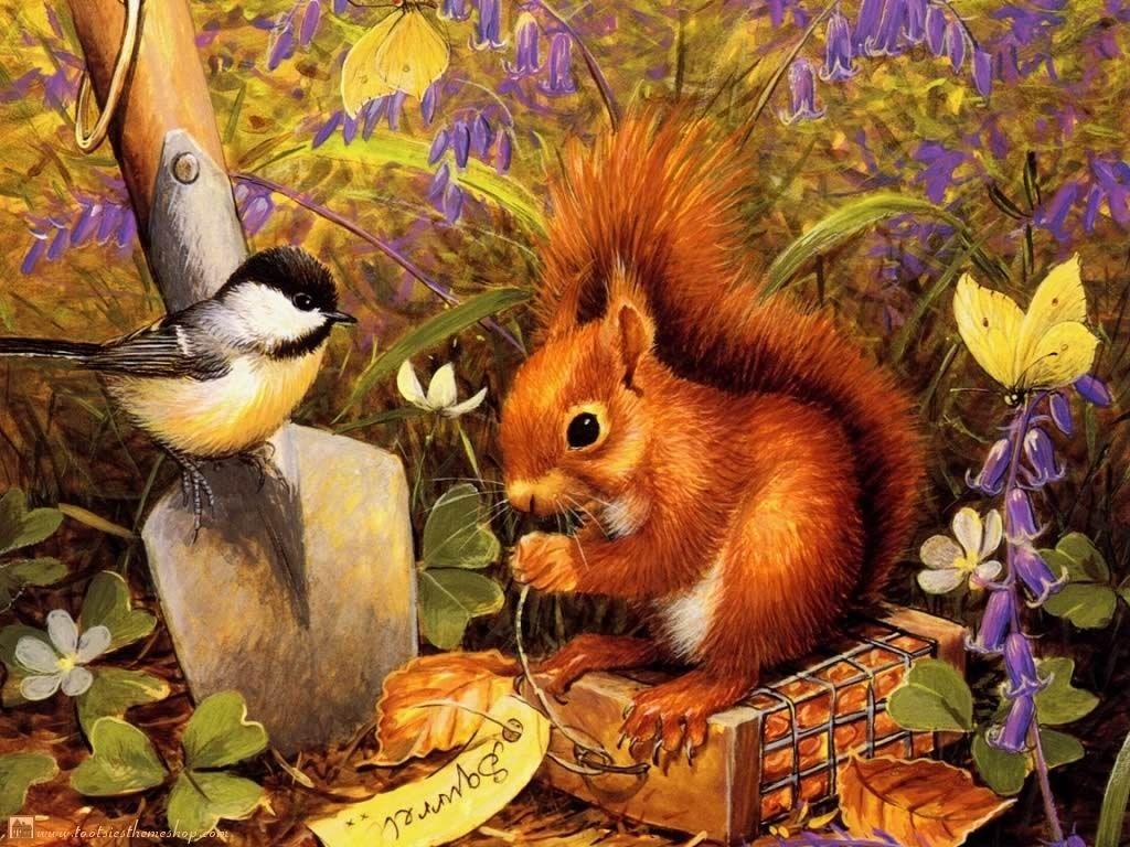 Животные осенью в картинках для детей