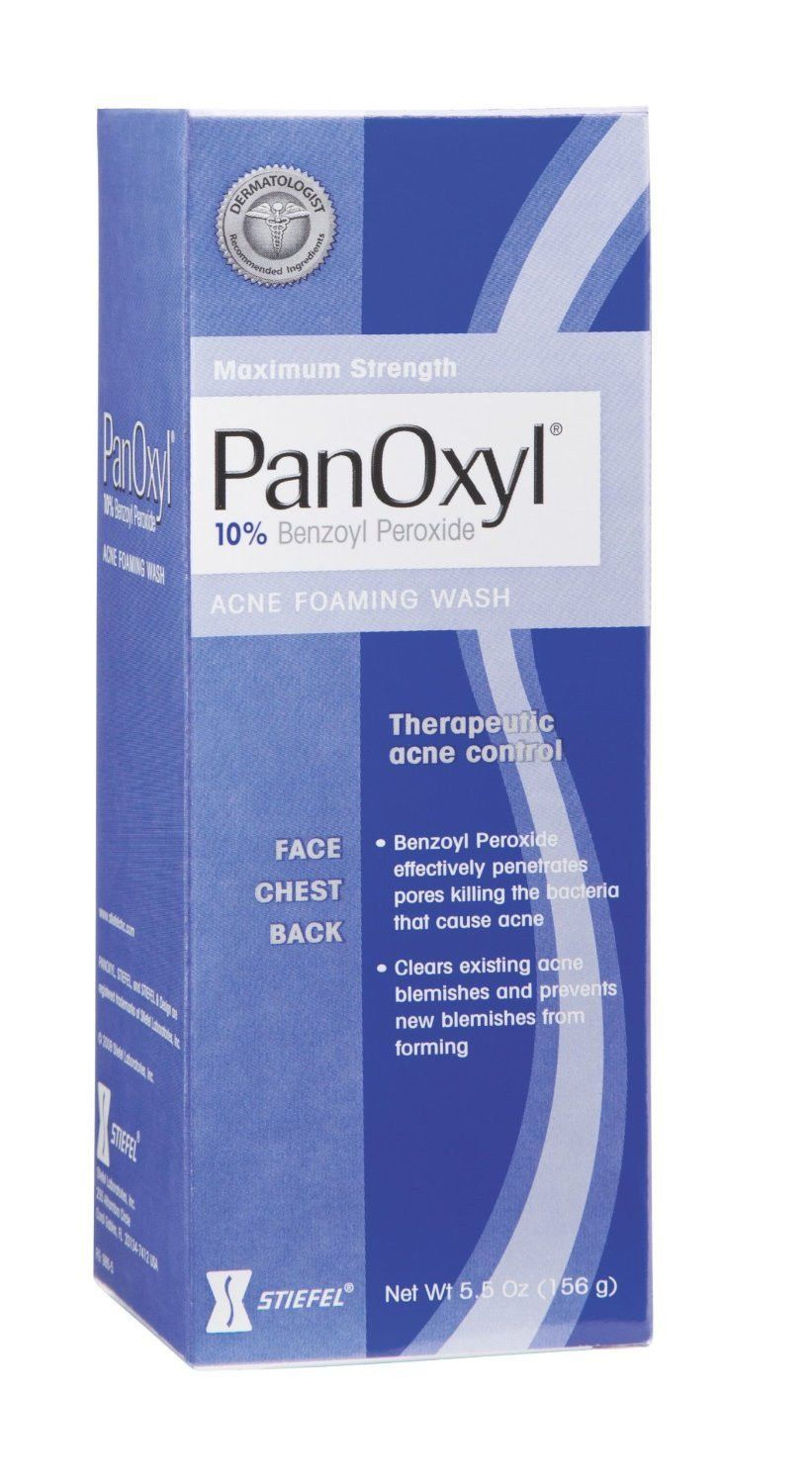 Panoxyl 10 Acne Foaming Wash Maximum Strength 5 5 Oz Panoxyl Acne Wash Benzoyl Peroxide