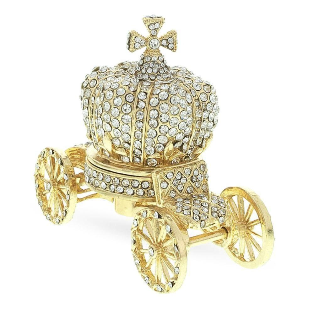 Treasured Trinkets Crystal Carriage Ornament Gift in Gift Box Home Decor Decorative Ornaments & Figures
