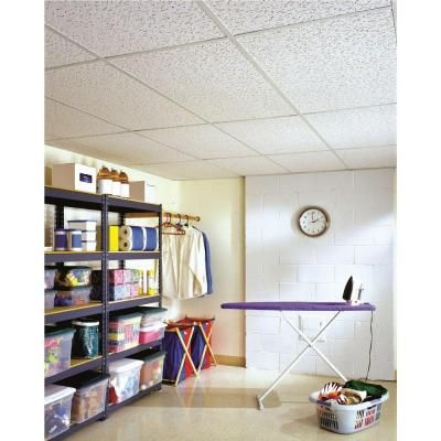 Usg Ceilings 2 Ft X 4 Ft Fifth Avenue Lay In Ceiling Panel 64 Sq Ft Case 280 The Home Depot Ceiling Tiles Ceiling Panels Ceiling Materials