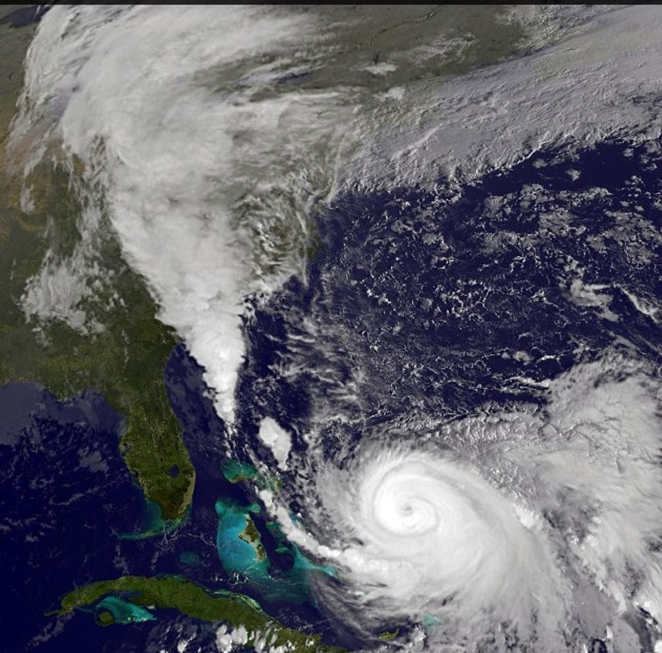 Looks Pretty From Space Not So Much Underneath Hurricane Joaquin Is The Strongest Hurricane This Far North So Late East Coast Storm Flood Watch East Coast