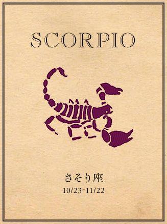Scorpio さそり座 10 23 11 21 蠍座 十二星座 タトゥー