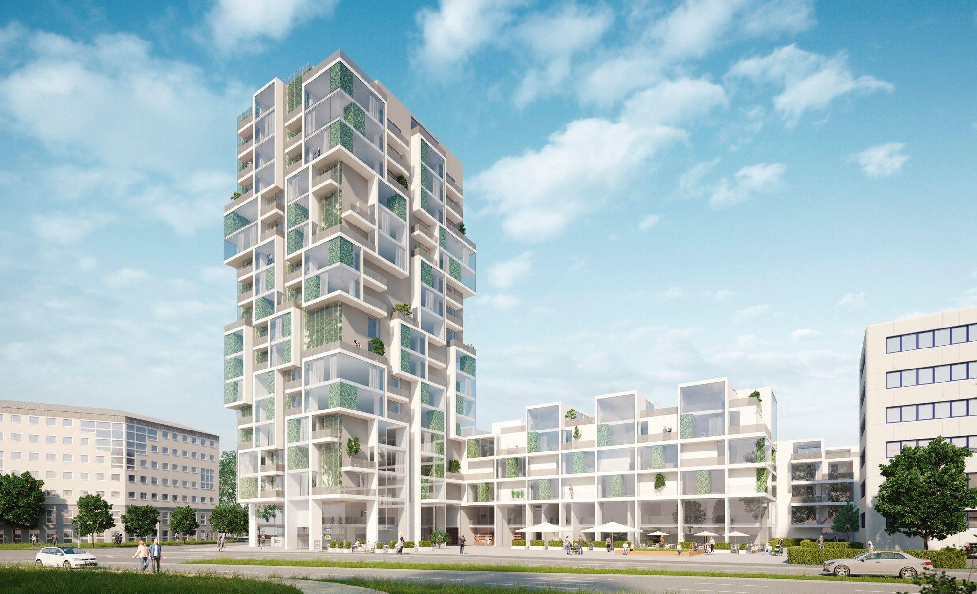 Ein bis zwei Hochhäuser Wettbewerb in Erfurt entschieden
