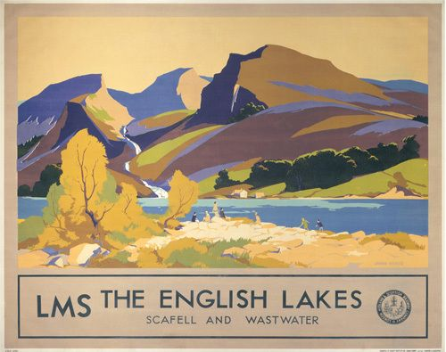 The English Lakes - Scafell and Wastwater by National Railway Museum - art print from King & McGaw