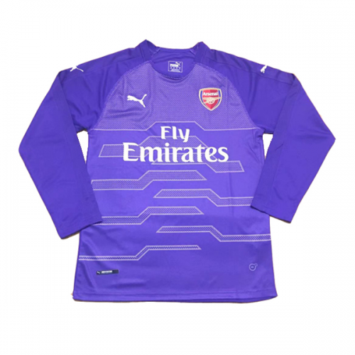 f6333c4beb5 18 19  arsenal  goalkeeper Purple Long Sleeve Soccer Jersey Shirt ...