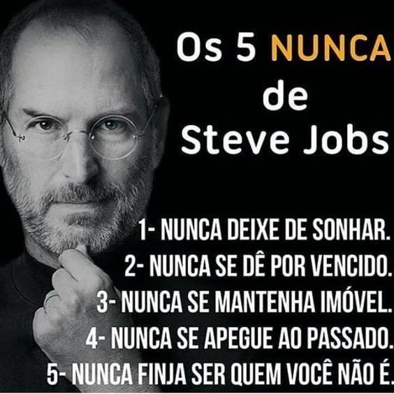 ce5c4abd56b ISTO É CAMPANHA Aqui nasceu o Sul de Minas: OS 5 NUNCAS DE STEVE JOBS