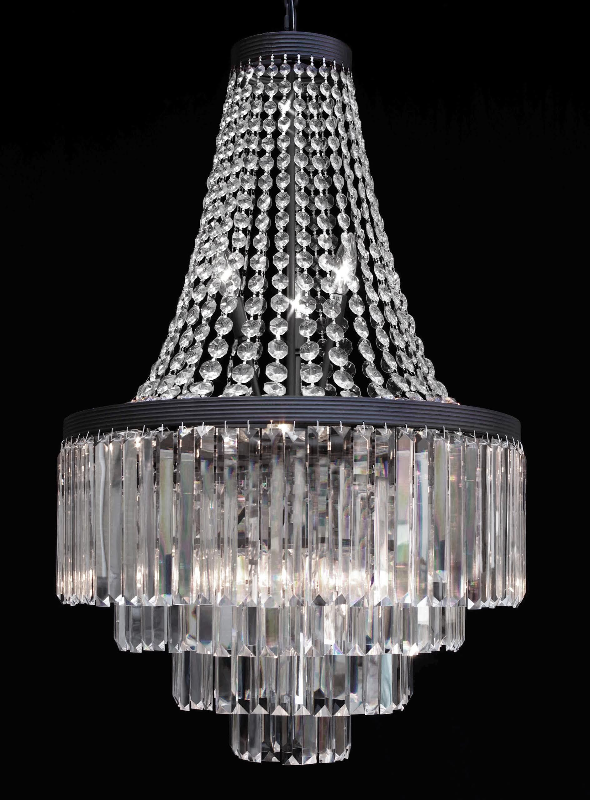 G7 2183 11 Gallery Chandeliers Retro Odeon Crystal Glass Fringe 3