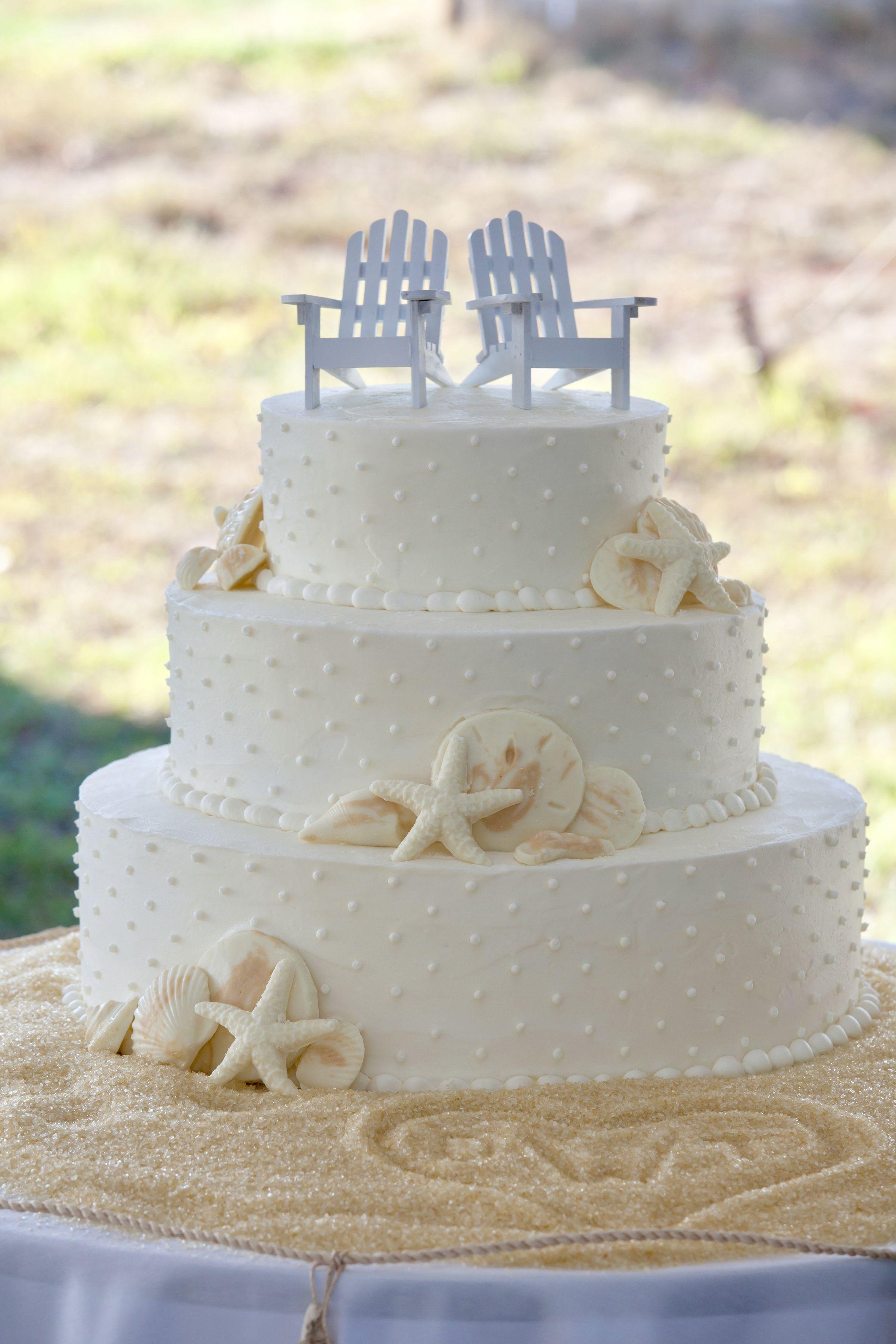 Sea Shells Beach Wedding Cake Beach Theme Wedding Cakes Beach