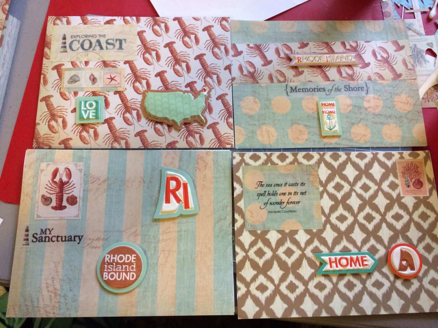 greeting cards rhode island state giftset of 4 rhode
