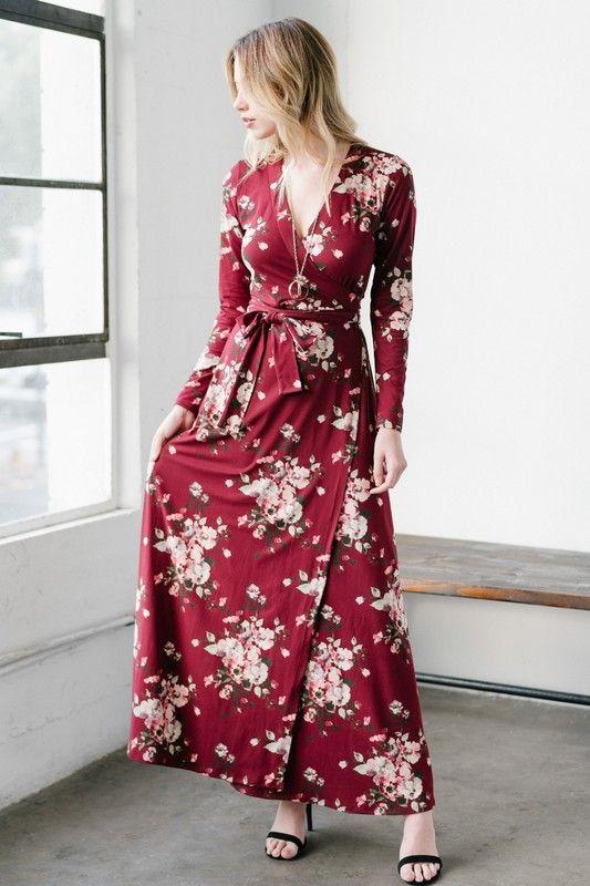f473dca7022 Cherry Blossom Wrap Maxi Dress in 2019