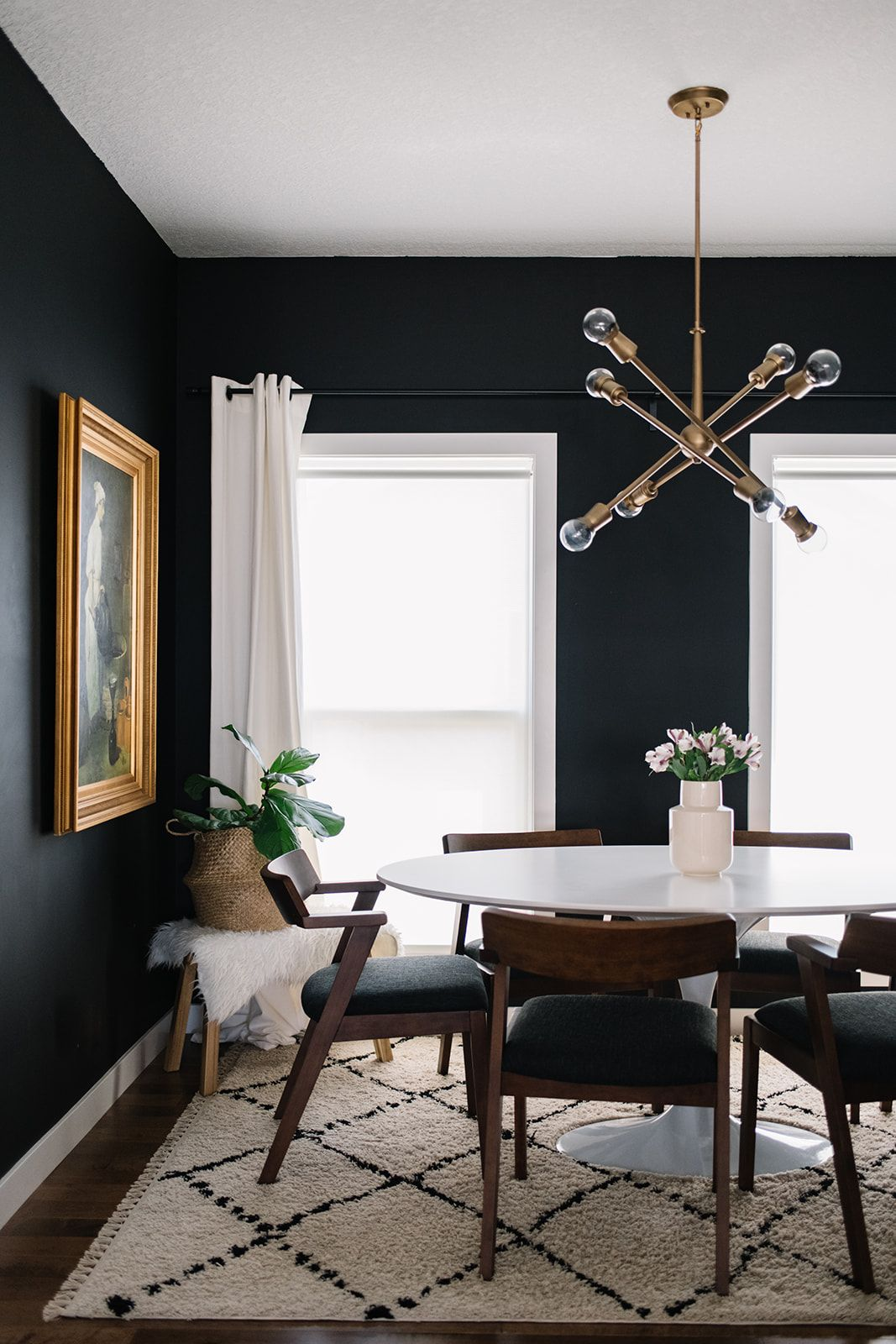 Black White Walnut Our Dining Room Refresh With The Article