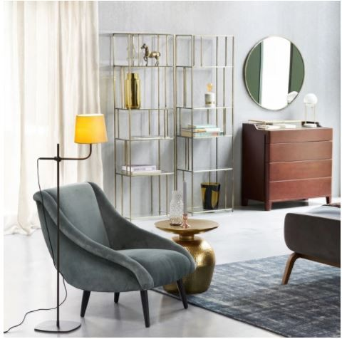 Collection ah2017 am pm lampadaire lylabel fauteuil style rétro meuble étagère en verre