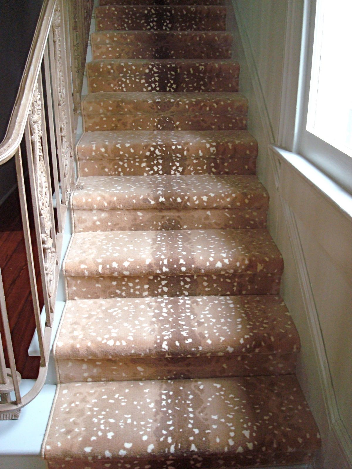 Deer Skin Stairs.. I Am Assuming This Is Made To Look Like.... And Is Not  The Real Thing.... If So, I Like The Look.