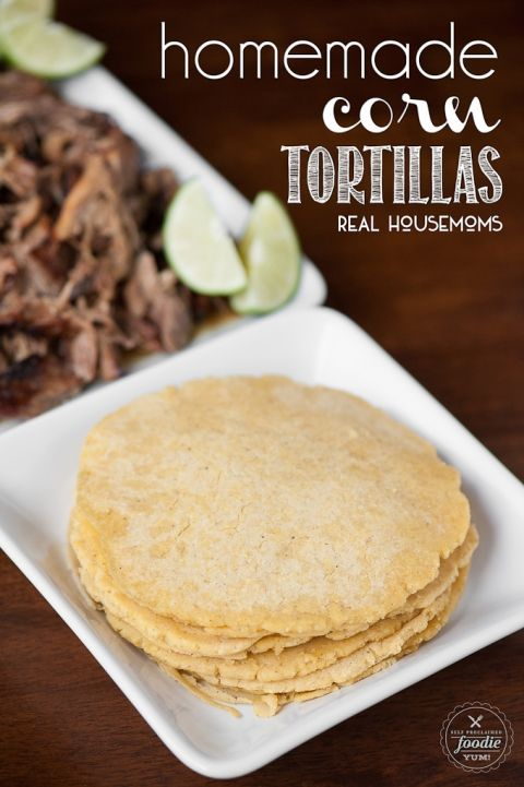 Homemade Corn Tortillas are a fun and kid friendly food to make as a family and are a great alternative prepackaged tortillas for dinner.