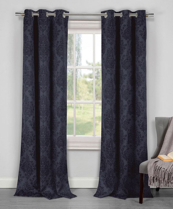 Look at this Midnight Blue Phelan Blackout Panel - Set of Two on #zulily today!