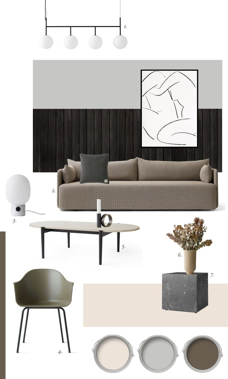 Neutral Living Room Mood Board Moody Minimal Interior Inspiration From Menu For 2018 Neut Minimalism Interior Interior Design Boards Mood Board Interior