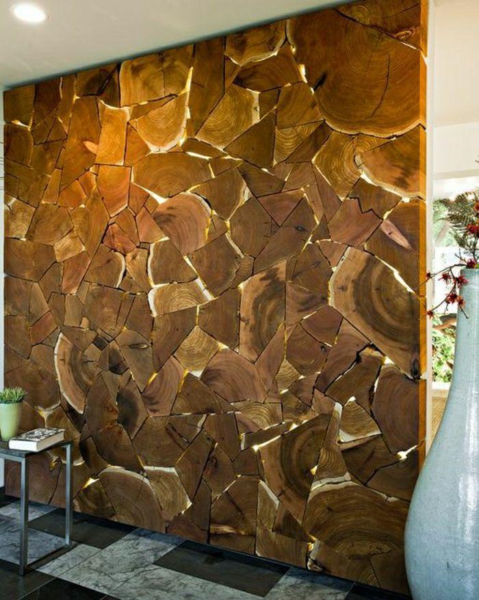 Schone Und Originelle Wandgestaltung Mit Naturholz Wandbehandlung Wandgestaltung Holzwand