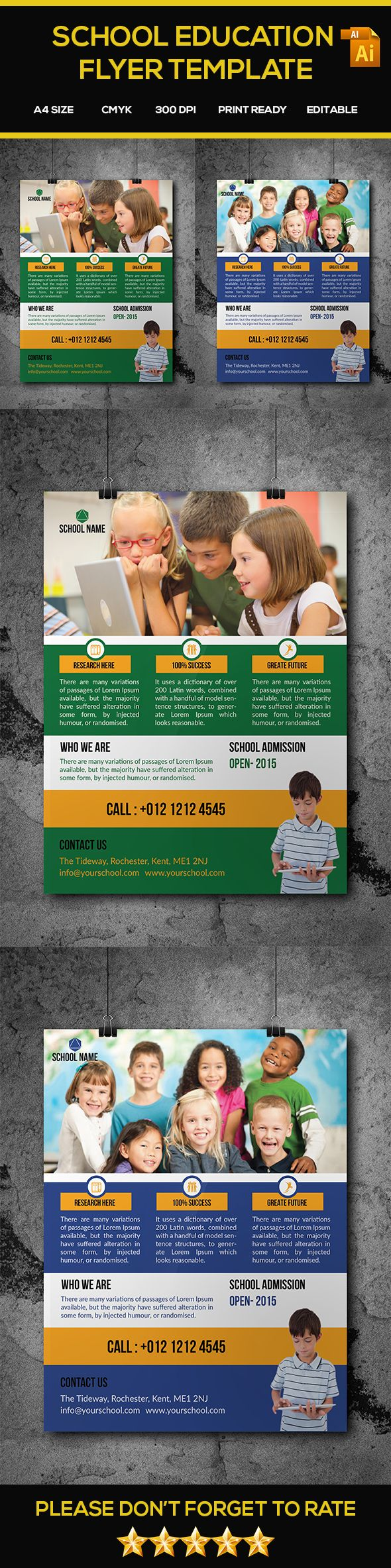 education flyer template flyer template pinterest
