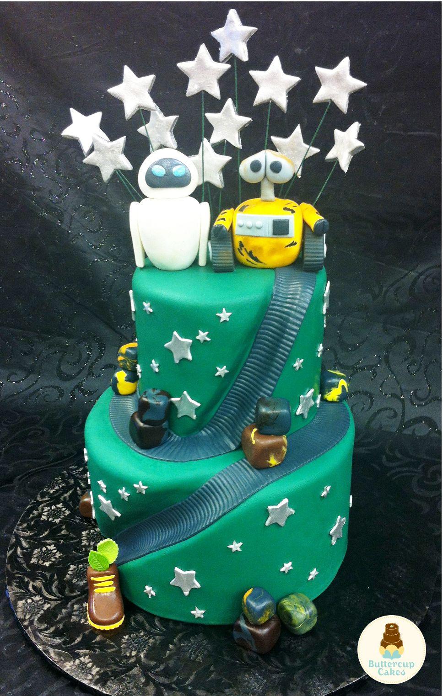 Wall E Birthday Cake Character cakes, Cupcake shops, Cake